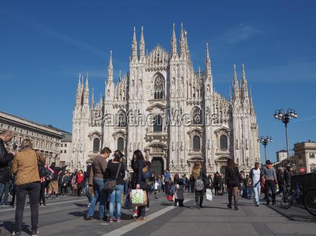 domkirke katedraler turister plads kvadrat milan