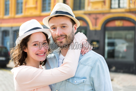 young attractive couple on holidays
