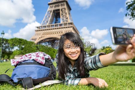 kvinde telefon tarn tur rejse ferie