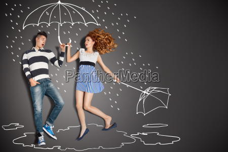 i regnen