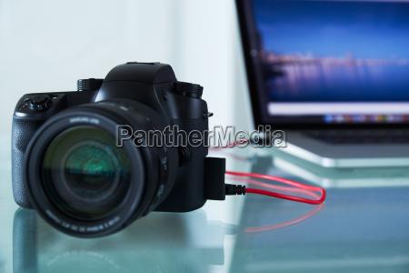 dslr fotokamera tojret til laptop computer