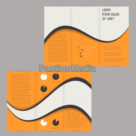 cool bolge design tri fold flyer