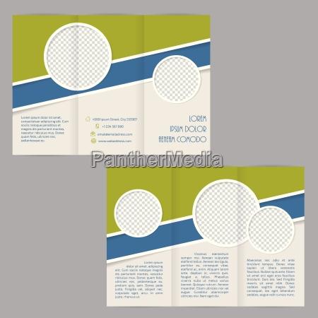 tri fold brochure skabelon design med