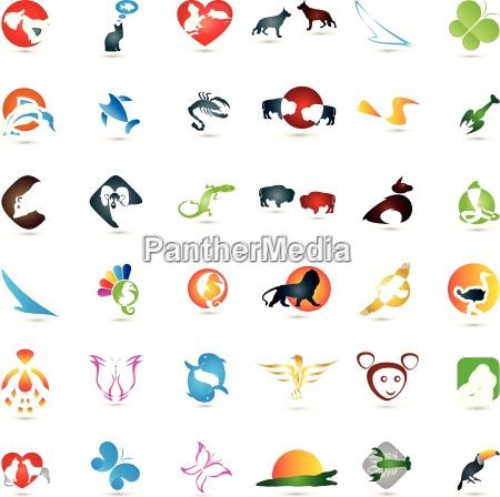 stor dyr indsamling logoer