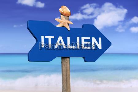 italien stranden og havet i lobet