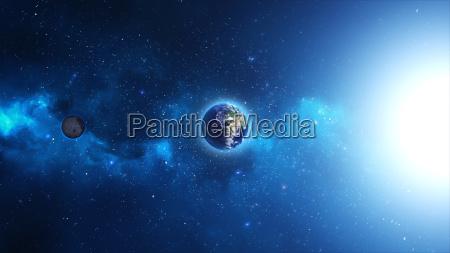 bla rummet univers verdensrum kloden jorden