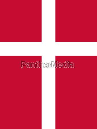 danmarks flag lodret