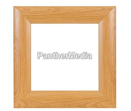mork firkantet trae billedramme