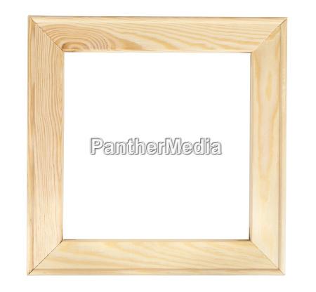 firkantet trae billedramme pa hvid bagrunden