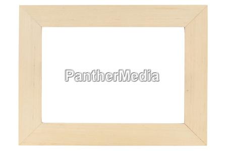 wooden billedramme pa hvidt backround