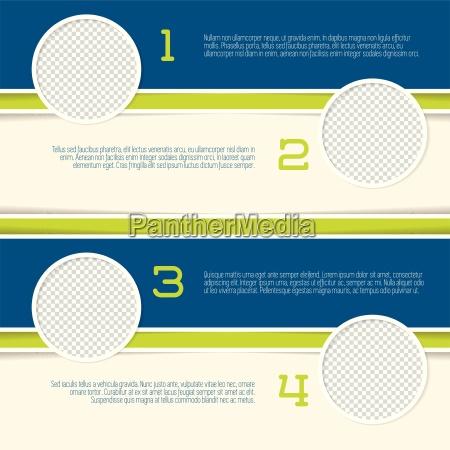 infografik design med cirkel foto containere