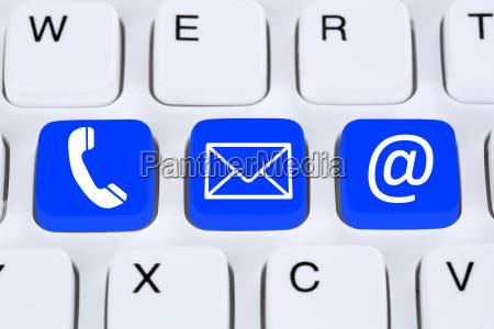 kommunikation kontakt telefon brev eller e
