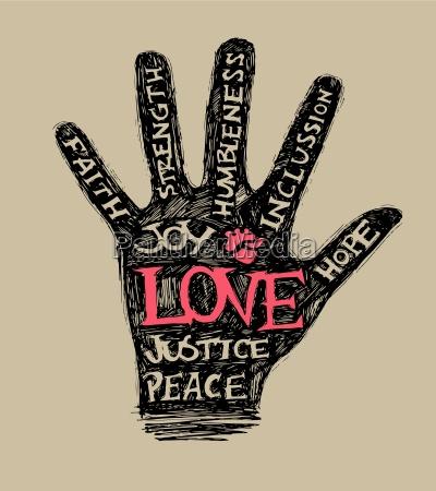 positiv hand