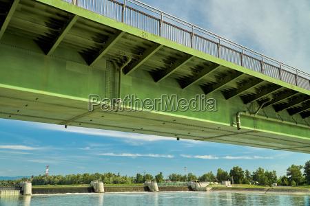bro rhinen frankrig konstruere byggeri flod