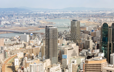 bygninger skyline japan byomrader business distriktet