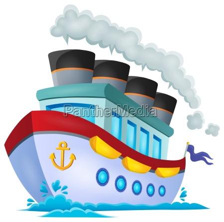 nautisk skib tema billede 1