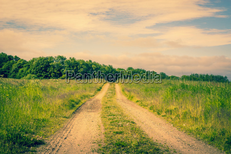 road on a countryside