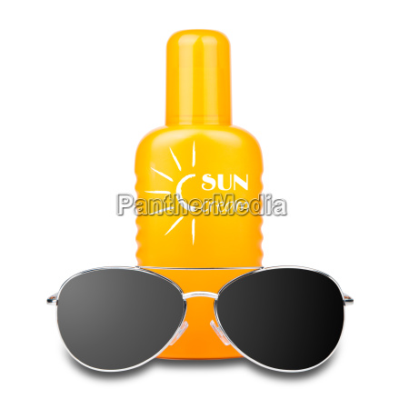 isoleret solcreme med solbriller