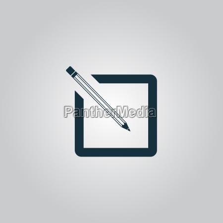 simpelt registrerings ikon
