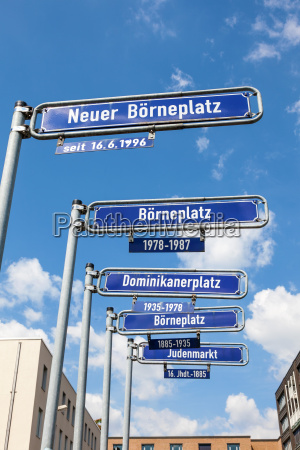 street signs in the city of