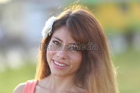 junge peruanerin in arequipa