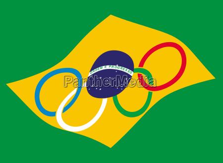 sport fane flag brasilien sydamerika latin
