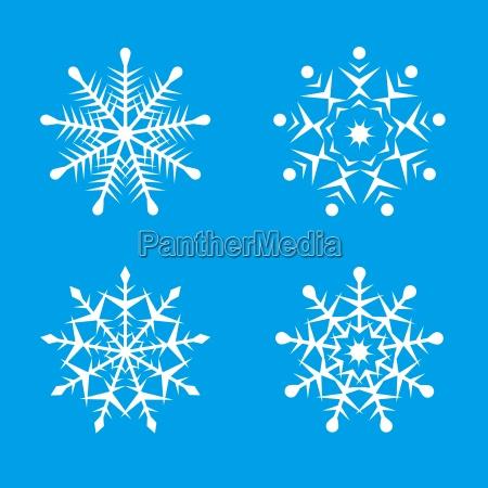 ilustracoes bonitas do floco de neve