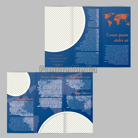 flyer brochure skabelon design med verdenskort