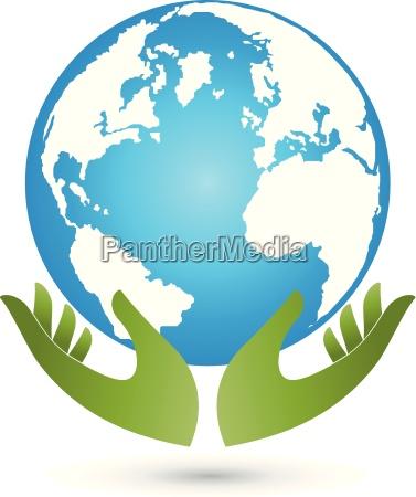 jord og haender globus kloden vektor