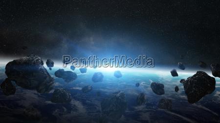 globo terra pianeta meteorite apocalisse comete