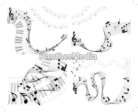 musical note staff set