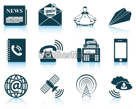 saet med kommunikation ikoner