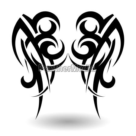 tatuaje tribal dibujado a mano