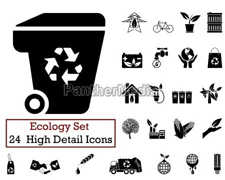 24 okologi ikoner