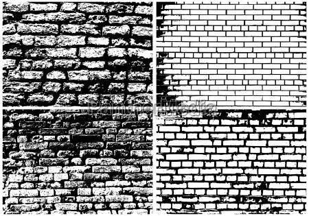 saet af abstrakt grunge mursten vaeg