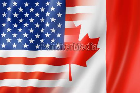 usa og canada flag