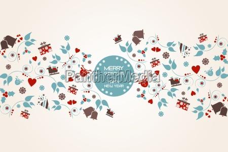 vintage julen baggrund med blomster og