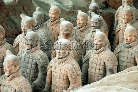 terracotta army naer byen xian kina