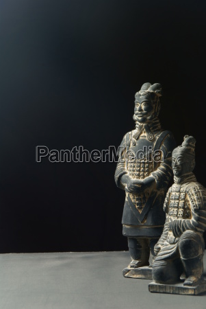 statue haer arme kinesisk kriger terrakotta