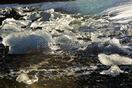 isblokke, på, glacier, lagoon, jokulsarlon, island, i - 14933299