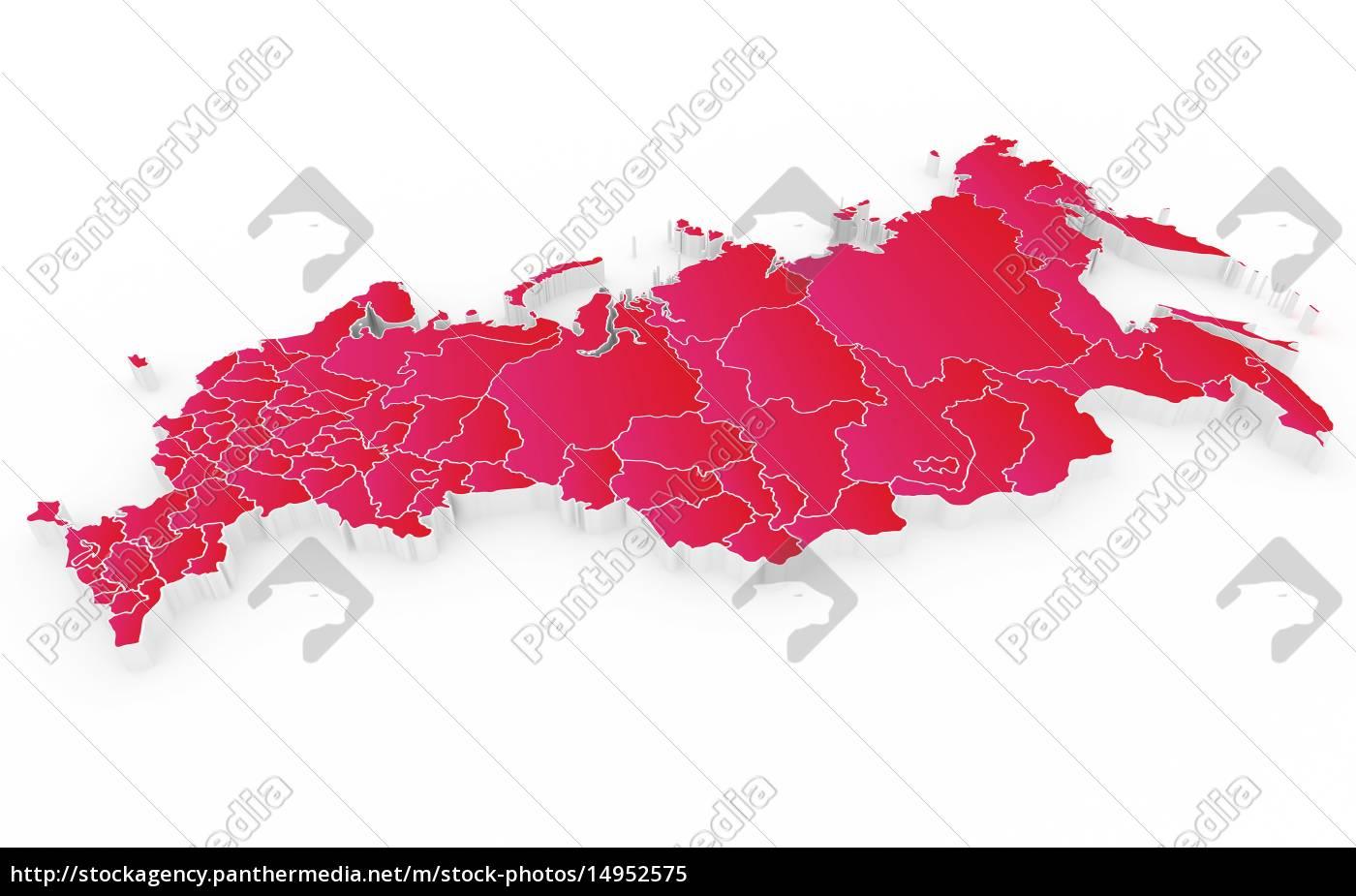 Nyt Kort Over Den Russiske Foderation Og Krim Royalty Free Image