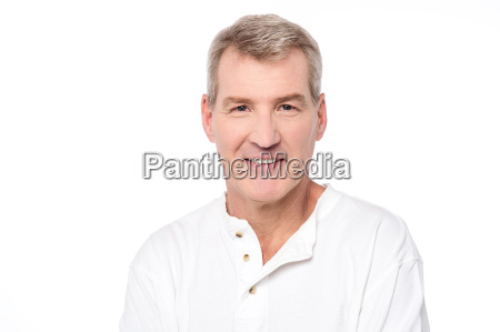 fresh look of an elderly man