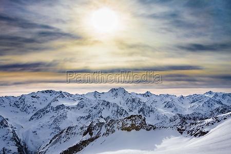 snowy alpine ski resort