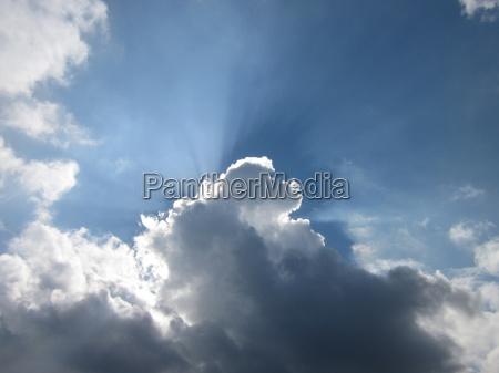 himlen er bla og vejret overskyet