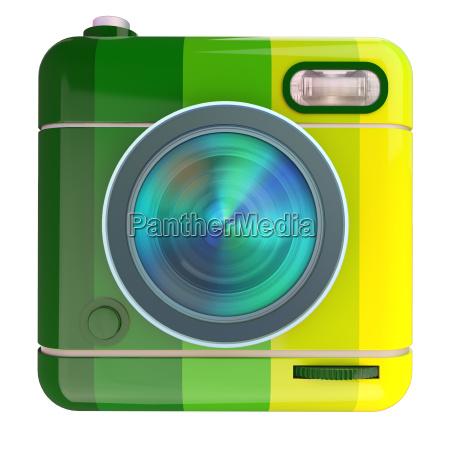 3d gengivelse af et fotokamera ikon