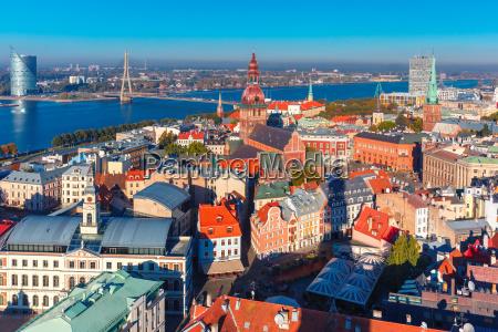 luftfoto af den gamle bydel og