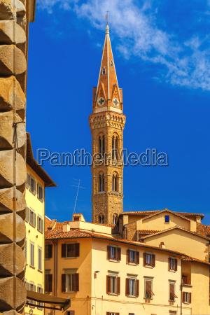 belfry of badia fiorentina in florence