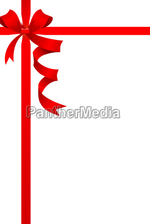 red ribbonvector isolated