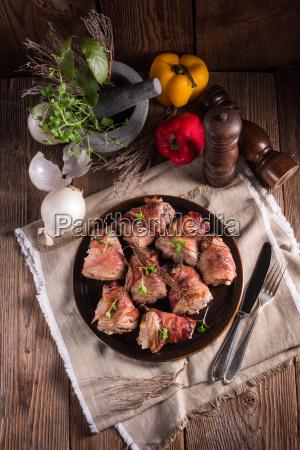 fyldte svinekod morbrad