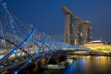 singapore, singapore, marina, bay, helix, bridge - 15465847
